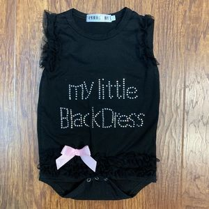 Little black dress ruffle onesie fits 9-12 months